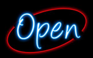 Free Neon Clipart #2: Open 300x187